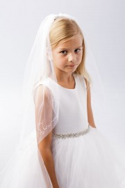 First Communion Veil with Sequins